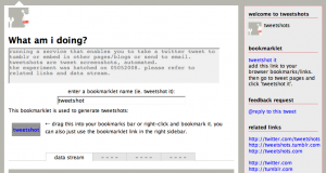 TweetShots: screenshot per Twtter via bookmarklet