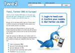 Twe2: notifiche SMS per Twitter (DM e replies)