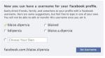 Facebook ci darà URL con username finalmente