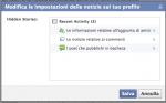 Facebook: rimuovere le attività recenti
