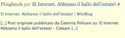 Questo post verr pubblicato anche sul sito che copia i post di catepol e di altri blogger