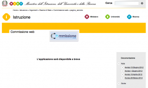 Commissione web in manutenzione?