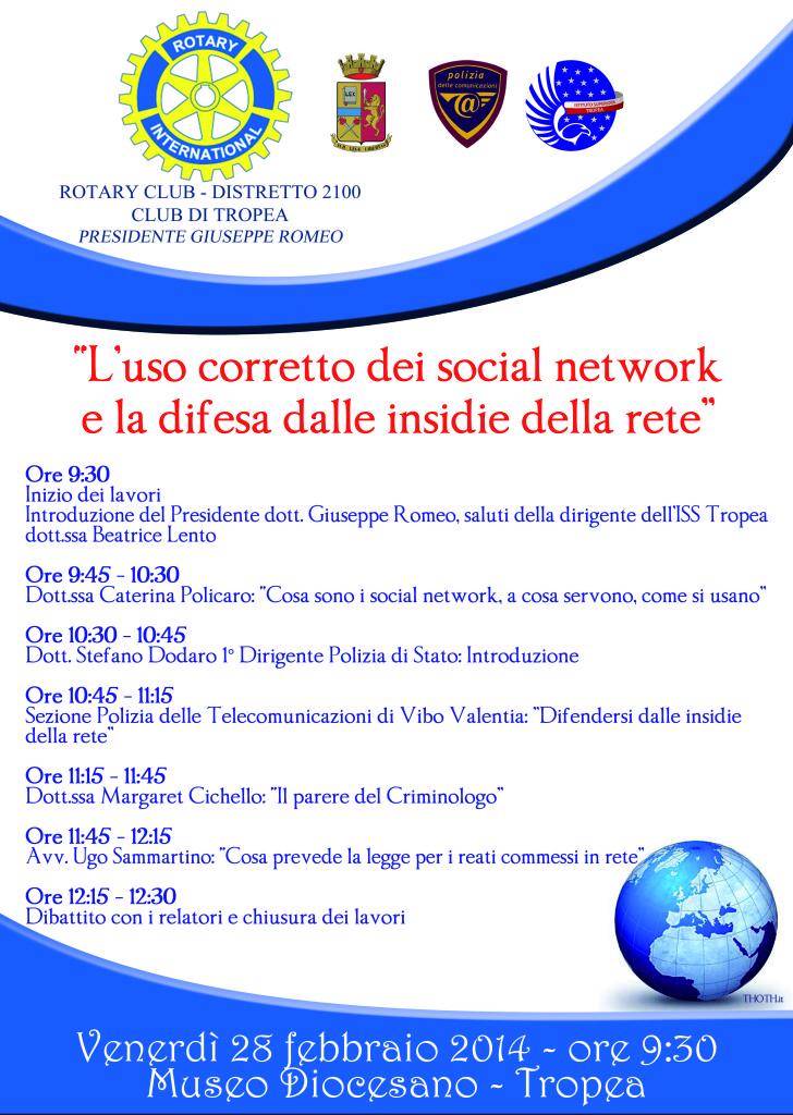 locandina social network tropea